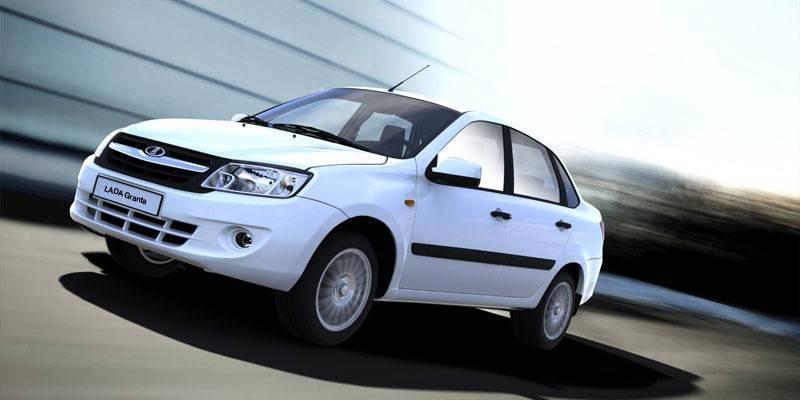 Lada Granta - рейтинг продаж в России