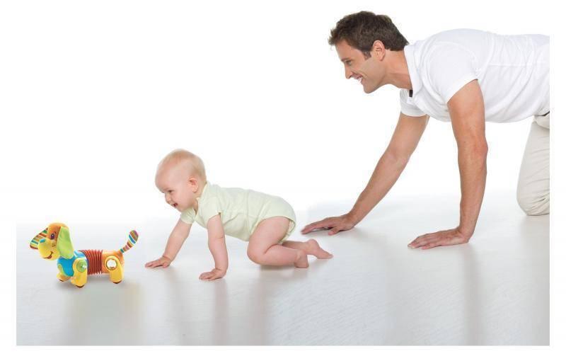 Учим малыша ползать