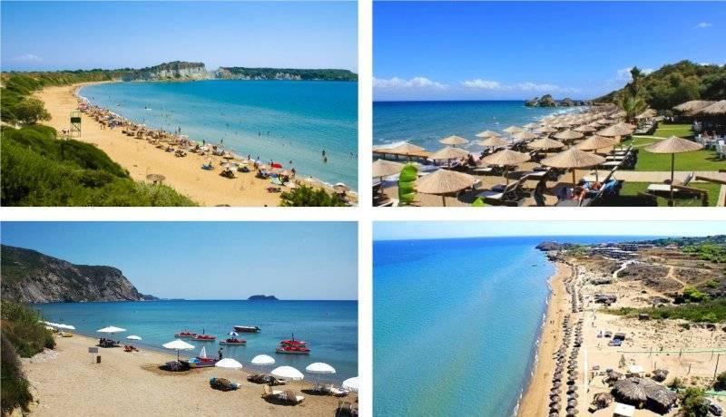 Самые популярные пляжи Закинфа, ионическое море Греции