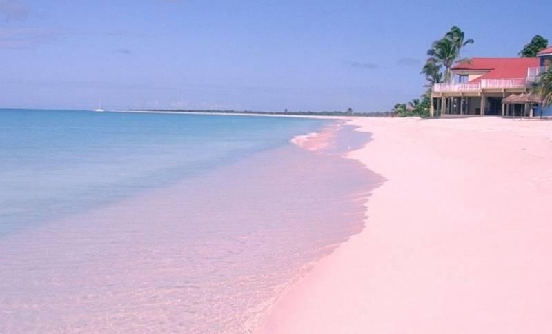 Pink Sand Beach: розовый пляж на Багамах