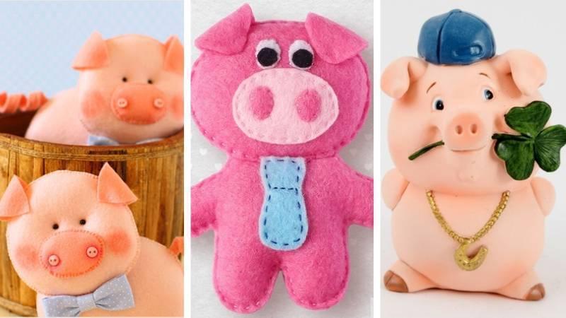 Фигурки свиньи на Новый Год