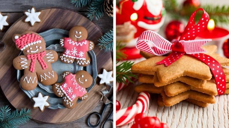 Сладкое печенье на столе на Новый год