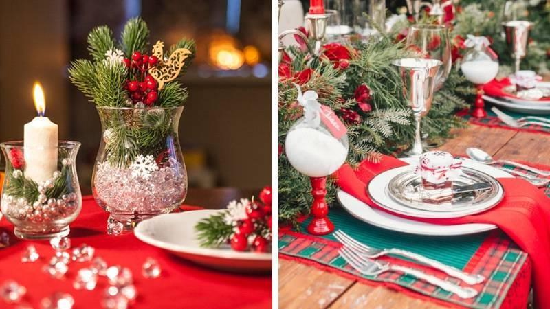 Классическая сервировка стола на Новый год