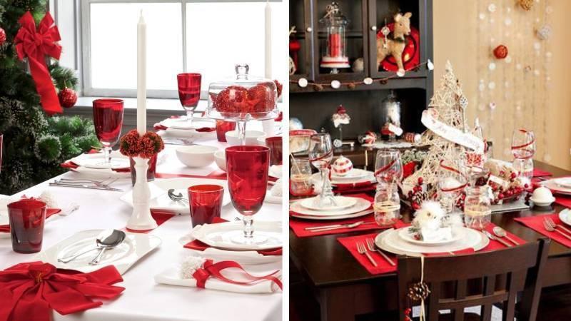 Классическая сервировка новогоднего стола