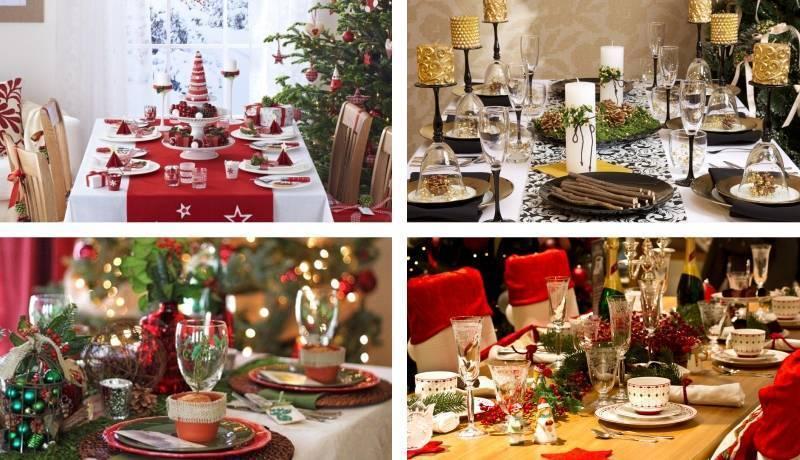 Как правильно украсить стол на Новый год