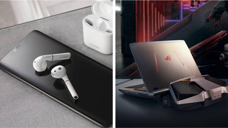Игровой ноутбук и беспроводные наушники