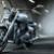 Байкер и мотоцикл