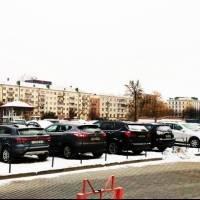 Автостоянка в центре Могилева